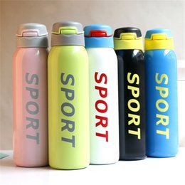Thermos boTTle child online shopping - Pipette Thermos Cup Stainless Steel Motion Water Cup Student Child Hydration Gear Leak Prevention Portable Outdoors Sport Creative lhC1