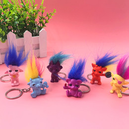 $enCountryForm.capitalKeyWord Australia - Colorful Hair Trolls Doll Retro Indian kid Toys Figure Doll Loverly Keychain Bag Decorations Small Tools Gift