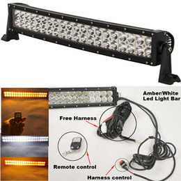 """Discount car strobe light controller - 120W 20"""" Amber White LED Strobe Work Driving Light Bar with Remote Controller for Car Truck SUV 4x4 ATV OffRoad Lig"""