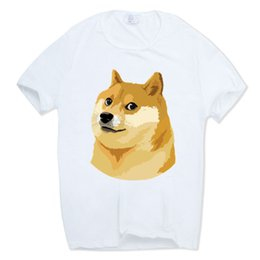 570e392f2 Men Women Print Doge Deus God Dog shiba Inu White T-shirt Short Sleeve  O-neck Harajuku Fitness Funny Tshirt Hcp412
