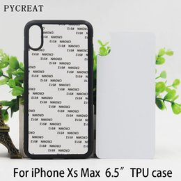 """$enCountryForm.capitalKeyWord NZ - 6.5"""" Fundas For iPhone XS Max Rubber Case 2D Dye Sublimation Soft Silicone TPU Blank Phone Housing With Plate Coque For iPXs Max"""
