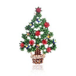 Party Jeans Australia - Cute Cartoon Christmas Brooches Santa Claus Tree Pin Badges Jean Shirt Suit Coat Brooch Party Banquet Brooch