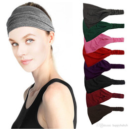 Running Headbands Wholesale UK - New Elastic Yoga Run Sport Headband Head  Band sweat absorb Hair d4128c494