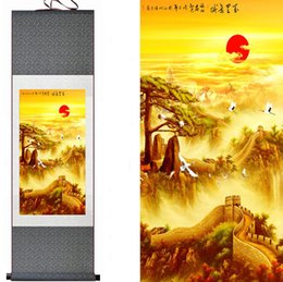 $enCountryForm.capitalKeyWord Canada - Top Quality Crane And Great Wall Painting Home Office Decoration Chinese Scroll Painting Crane And Tree Painting