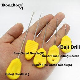 needle making Canada - ishing Lures 3PCS Carp Fishing Boilies Bait Drill Baiting Needle Gate Needle Pellet Hair Rigs Splicing Making Tools Rigs Loading Accessor...