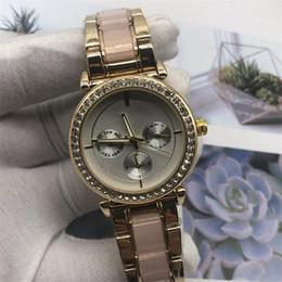 Michael Glasses Australia - Fashion Rhinestone Diamond inlay large letters Clock dial Large dial Man Woman michael Quartz Watches wholesale American fashion brand