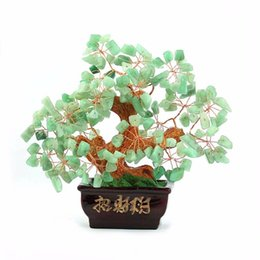 Chinese  trees crafts natural crystal craft tree , the lucky feng shui tree as the mascot, bring in wealth and treasure fortune treegren manufacturers