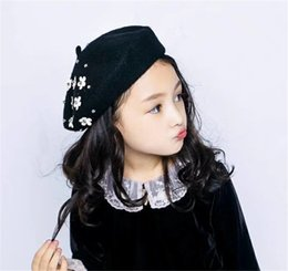 0f050fce Fashion Children Pearl Flower Berets Spring Berets Autumn Kids Cute Beret  Hats Baby Girl Hat Caps Retro Caps Fashion Beanie