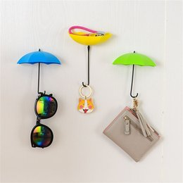 pin walls 2019 - 6Pcs Colorful Umbrella Wall Hook Key Hair Pin Holder Organizer Decorative home decoration accessories multifunction hook