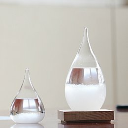 Home Decor Weather Forecast Crystal Rhythm Drip Shape Storm Glass Weather Forecast Bottle Christmas Craft Art Gift XD22499 on Sale