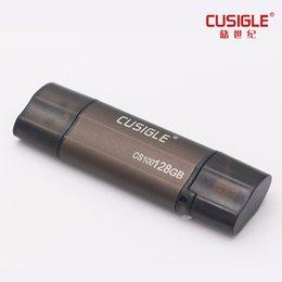 64 Gb Flash Drive Australia - For CUSIGLE CS100 16GB 32GB 64GB 128GB With External Storage USB Flash Drive OTG 2.0 Texture Shell