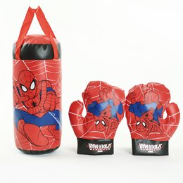Wholesale The Avengers Age Of Ultron Boxing Glove Mini Spider Man Sandbag Hoisting Suit Decompression Toys For Children Women Men Funny Gifts kg M1
