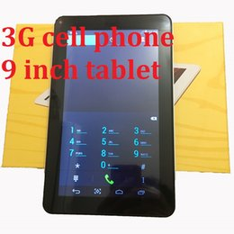 Wholesale Telefono 3G da 9 pollici Tablet PC MTK6572 Android4.4.2 Tablet 512MB RAM 4GB Rom IPS Schermo wifi Bluetooth