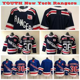 2019 Winter Classic Youth New York Rangers Hockey Jerseys 30 Henrik  Lundqvist 36 Mats Zuccarello Youth Kids Ice Hockey Jerseys Embroidery 7ad8e146d