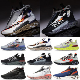 light platinum Australia - New Release React WR ISPA React Shoes Running Shoes for men women Anthracite Light Crimson Blue Orange Platinum Volt reacts Sneakers