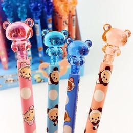 $enCountryForm.capitalKeyWord Australia - 1Pcs Cartoon Panda Animal Mechanical Pencil Cute Kawaii Bear Plastic Automatic Pens For Writing Gift Office School Supplies
