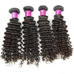 nice human hair weave NZ - A 100 %Brazilian Curly Human Hair Extension Weaving 4 Bundles Double Weft Remy Hair Deep Wave For Your Nice Salon Beauty Factory Cheap