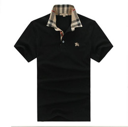 England tEE shirts online shopping - 2019 Casual Polo Shirt Summer England Classic Short Sleeve Striped Polos Top Brand Men s Embroidery Pullover Lapel Neck Cotton Tee