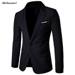 Stylish Formal Suits Australia - Men's Casual Slim Fit One Button Suit Blazer Fashion New Stylish Formal Coat Jacket Tops