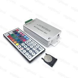 $enCountryForm.capitalKeyWord Australia - LED RGB Controller DC 12V-24V 24A 44key RF Wireless Remote Dimmer For 5050 3528 RGB Flexible 144W 288W Strip Light DHL