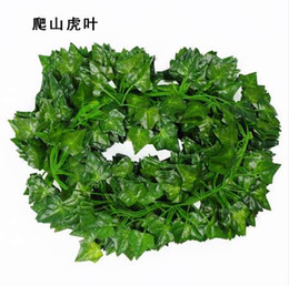 $enCountryForm.capitalKeyWord UK - 2M Long Artificial Plants Green Ivy Leaves Artificial Grape Vine Fake Parthenocissus Foliage Leaves Home Wedding Bar Decoration
