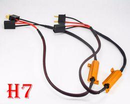 Flash decoder online shopping - 2PCS W ohm Gold Fuse LED Headlight Canbus Error Canceler H1 H7 H8 H9 H11 LED Decoder Load Resistor Anti Hyper Flash