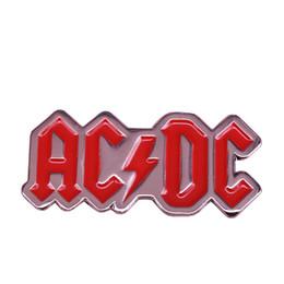 Rock bRooch online shopping - AC DC enamel pin rock band brooch s vintage music badge heavy metal fans gift art decor