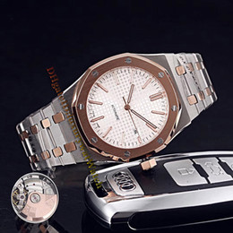 Royal blue Red bRacelet online shopping - Brand Cheap Royal Date SR OO SR White Dial Automatic Mens Watch Sapphire Rose Gold Two Tone Steel Bracelet Sapphire Watches