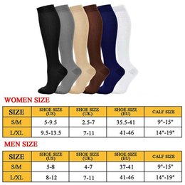 Wholesale stockings nylon s resale online - Sport Compression Stocking Unisex Outdoor sock Breathable Pressure Nylon Varicose Vein Stocking Leg Relief Pain Stockings New