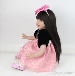 Toptan satış 55cm Silikon Reborn Bebekler Bebek 22 inç el yapımı yenidoğan Bebek Sıcak satış Sevimli boneca Oyuncak Çocuk Noel hediyesi