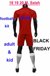 Quick Dry Shirts For Men Australia - Discount 18 19 20 M.Salah Soccer Shirt College Training Elite Football Kit for Man and Youth Jersey Dress Red Black Friday