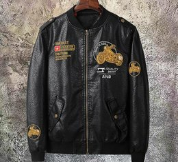 Korean Motorcycle Jacket Australia - New spring autumn men's jacket Korean leather clothing men's youth handsome Slim motorcycle Outerwear Coats leather