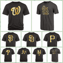 $enCountryForm.capitalKeyWord Australia - Washngton Natonals San Franisco Giants San Digo Padres Pitsburgh Pirates Fanatics Apparel Gold Collection Long Sleeve Tri-Blend T-Shirt
