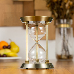 timer hourglass NZ - Hot Self-installed sand homemade hourglass empty bottle timer birthday gift wedding creative decoration home Glass Hourglass