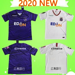 football league NZ - 20 21 J1 League Sanfrecce Hiroshima Soccer Jerseys 2020 2021 purple white Home Away #12 PLAYEY Soccer Shirt Away Black Football Uniform Sale