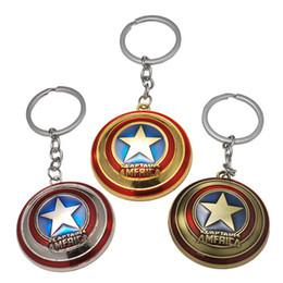 $enCountryForm.capitalKeyWord NZ - 17 styles Avengers Captain America Keychain Superhero Star Shield Pendant Car Key Chain Accessories Batman llaveros Marvel Keychain jssl001