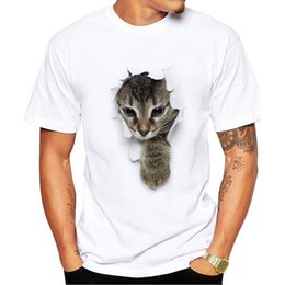 fd45fe64dd Men's 3D Cute Cat T-shirt Man Summer Tops Tees Print Animal Funny T shirt  Men O-neck short sleeve tshirt Fashion Men Tshirts