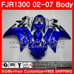 Wholesale Corpo para YAMAHA FJR-1300 FJR1300 01 02 03 04 05 06 07 FJR1300A 120HM.0 FJR 1300 2001 2002 2003 2004 2005 2006 2007 Carenagem ALL Fábrica azul