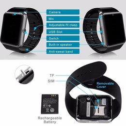 $enCountryForm.capitalKeyWord Australia - New GT08 Bluetooth Smart Watch with SIM Card Slot and TF Health Watchs for Android Samsung and IOS iphone Bracelet Smartwatch Wholesale
