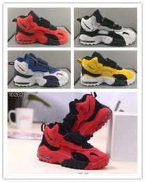 new design boy kids shoe Australia - 2019 Design New kids Speed Turf XZ Basketball Shoes Air Barrage Mid QS Chaussures kids Designer Trainers de basket ball boys girls Sneakers