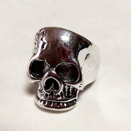 $enCountryForm.capitalKeyWord Australia - Free Shipping Mixed 100pcs Metal Crackle Reaper PUNK gothic Gothic Lolita Skull Style ring Men Band Jewelry Bikers (Arts and Crafts)
