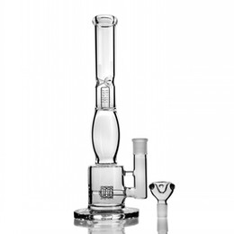 Tire Style Bong NZ - Manufacture NEW water bong glass pipe WITH Tire style and honeycomb diffuser percolator GLASS BONG SMOKING PIPE free shipping 18mm bowl