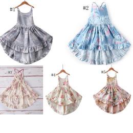 $enCountryForm.capitalKeyWord Australia - Baby Girl Kids Boutique Clothes Summer Girl Full Flower Print sleeveless Suspender Ruffles Dress high quality 100%cotton baby Princess dress