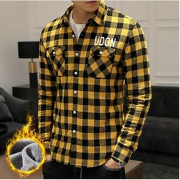 Clothe Opening Australia - Luxury Designer T Shirts For Mens Shirts Autumn Winter Long Sleeve Thick Mens Tops Polo Shirts Casual Outerwear Open Stitch Clothing M-3XL