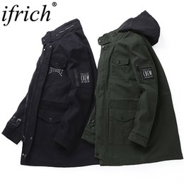 83cd2dc42323 Autumnal Men s Jacket Short Casual Coat Overcoat Hooded Man Jackets High  Quality Fabric Men s Cotton Can Accommodate Hood Design
