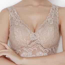 $enCountryForm.capitalKeyWord NZ - Lace Pendant Bra Wireless Top Quality Wide Shoulder Straps Bra Female Lingerie Transparent Women's Bras