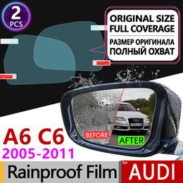 Опт 2 Шт. Для Audi A6 C6 2005 - 2011 4F Полное Покрытие Анти-Туман Пленка Зеркало Заднего Вида Водонепроницаемые Фольги Прозрачные Анти-Туман Пленки Автомобильные Аксессуары