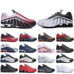 $enCountryForm.capitalKeyWord Australia - Arrival New Shox R4 Running Shoes For Women Men Dynamic Yellow Black Metallic Og Racer Blue Challenge Red Mens Trainers Designer Sneakers