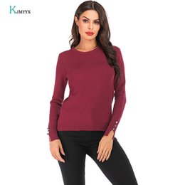 $enCountryForm.capitalKeyWord Australia - KJMYYX 2019 New Women Shirt 2019 Fashion Skinny Thermal Soft Solid Color Women Sweater Autumn Casual Slim Ladies Strip Sweater