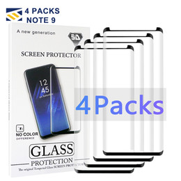 S6 Edge Screen Case Australia - 4 Pack Case Friendly Small version For Samsung Galaxy Note 9 8 S9 S8 S7 S6 Edge Plus Tempered Glass 3D Curve 2.5D HD Clear Screen Protector